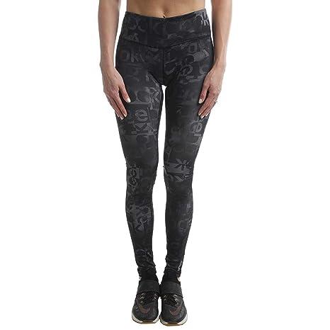 Reebok Womens Fluidity Yoga Fitness Athletic Leggings Black M