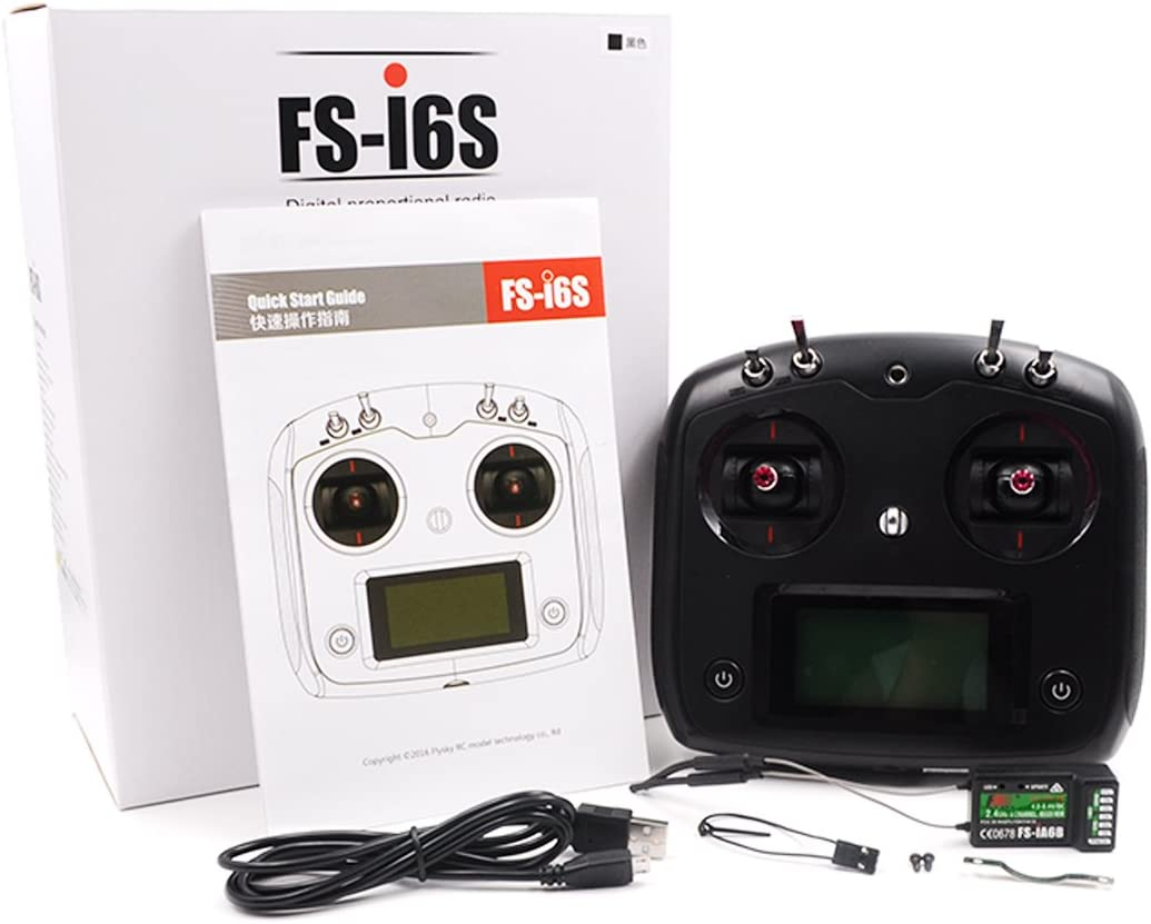 IA10B Cadeau danniversaire elegantstunning Fly-Sky FS-i6S T/él/écommande /émetteur radiocommand/é avec r/écepteur 6 canaux FS-iA6B ou r/écepteur 10 canaux FS-iA10B Blanc FS-i6S