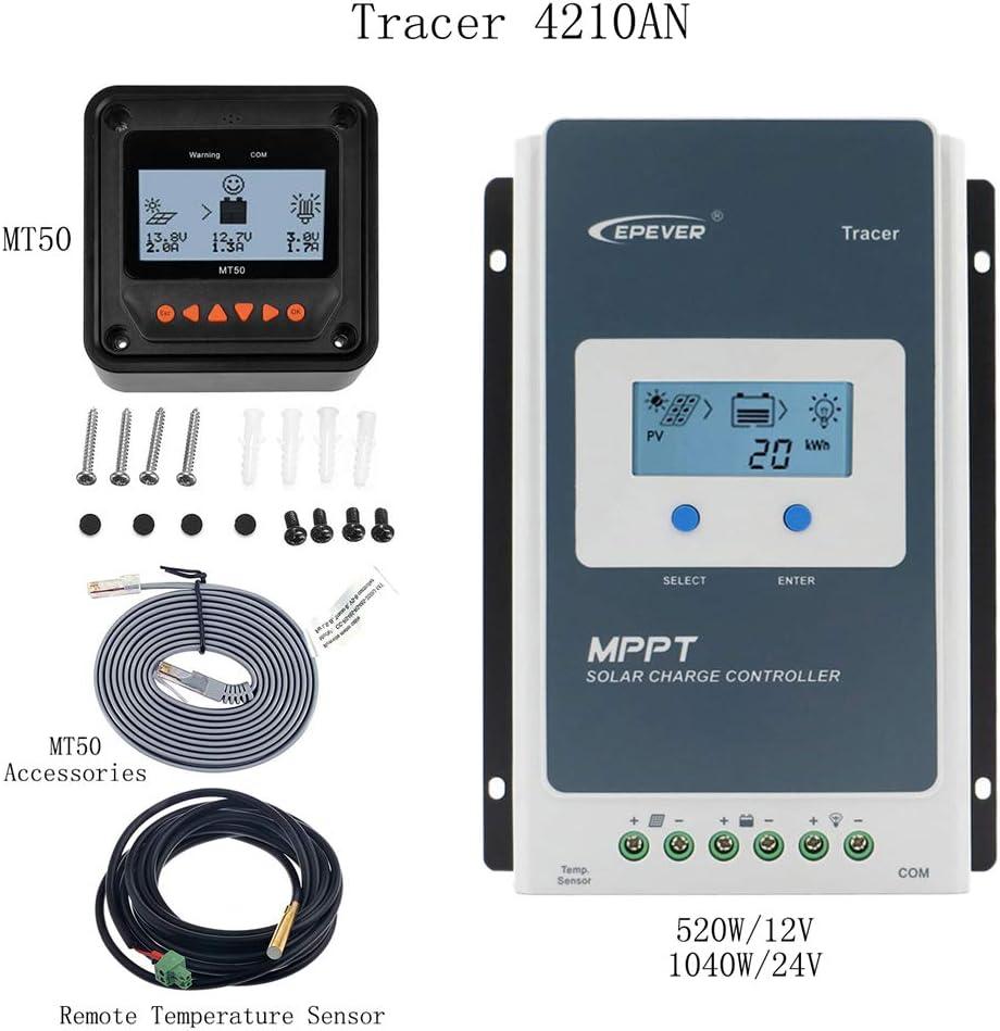 12//24 V Solar Controller 20A Solar-Ladeger/ät Controller Solar Panel Batterie Intelligenter Regulator Tracer 2210 20 Amp MPPT Controller