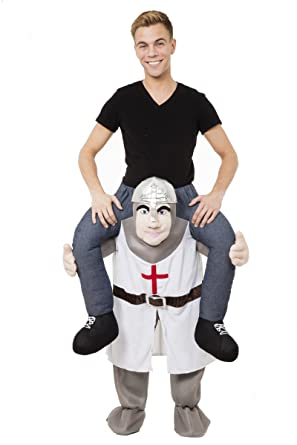 Delightful Adult Piggy Back Carry Me Crusader Knight Fancy Dress Mascot Costume  Medieval: Amazon.co.uk: Clothing