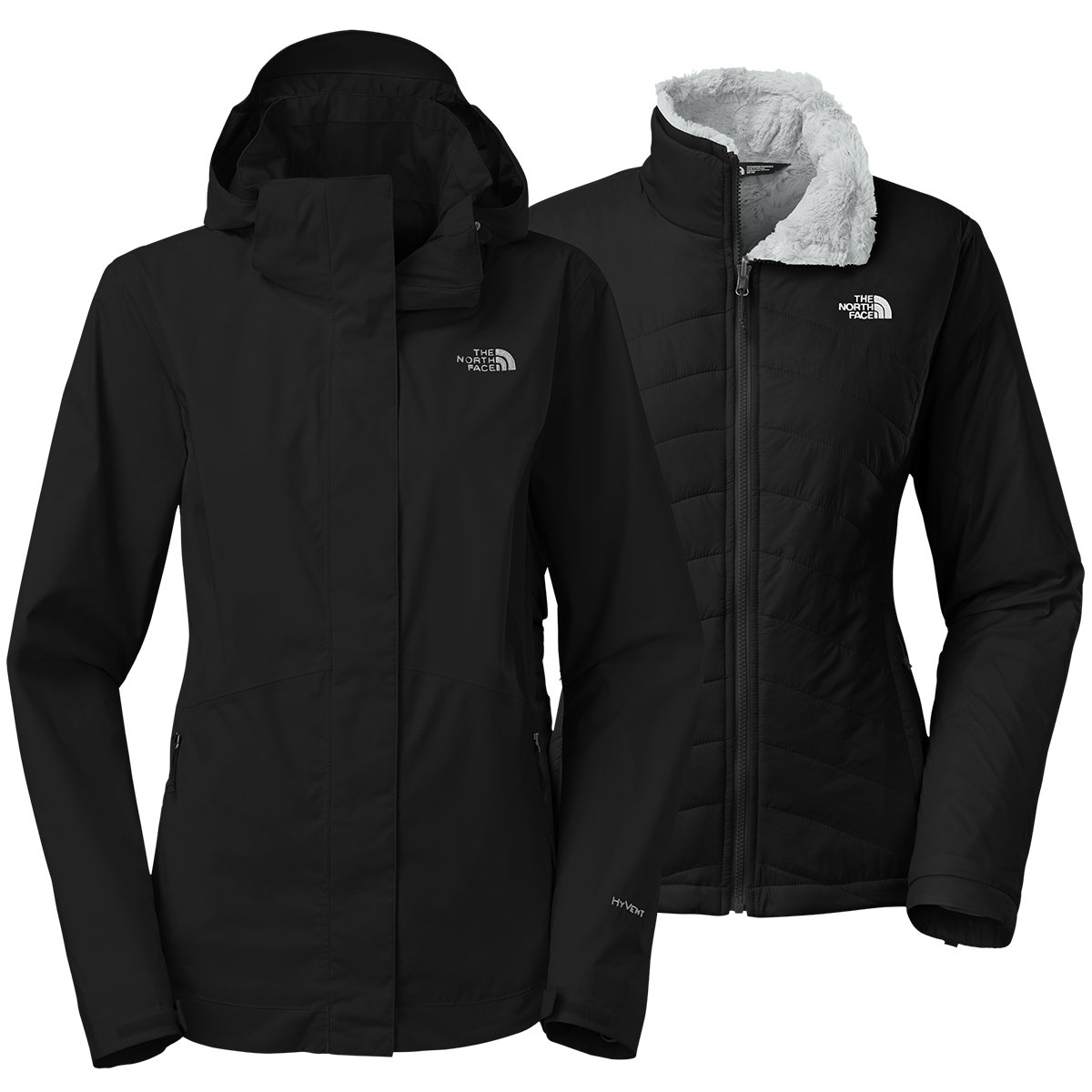 The North Face Mossbud Swirl Triclimate Jacket Womens TNF Black/TNF Black M