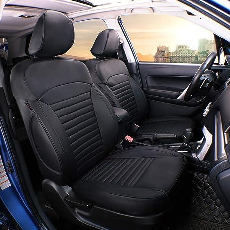 Amazon.com: Lingyue - Funda para asiento de coche de piel ...