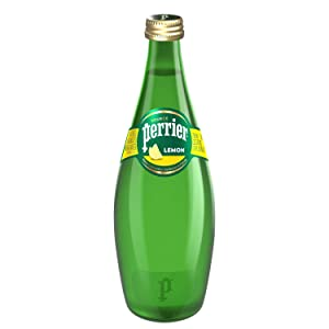 Perrier Lemon Flavored Carbonated Mineral Water, 25.3 Fl Oz Glass Bottle