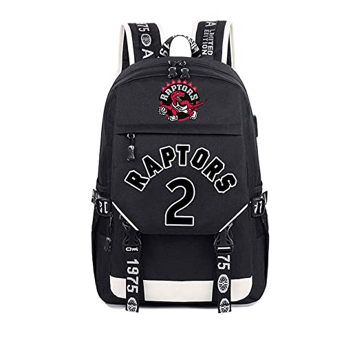 PPOUTDD Student Backpack Toronto Raptors Print Bag Kawhi ...