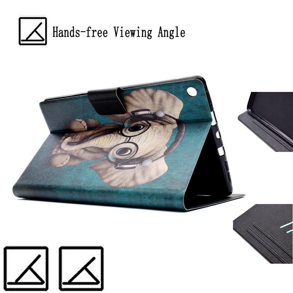 6/ème G/én Kindle Fire HD 8 2016 /étui Flip en Cuir Super Fin et l/éger et Pliable avec Sommeil//Reveil Automatique pour Kindle Fire HD 8 2017 7/ème G/én Outter Smart Etui pour Kindle Fire HD 8 2017