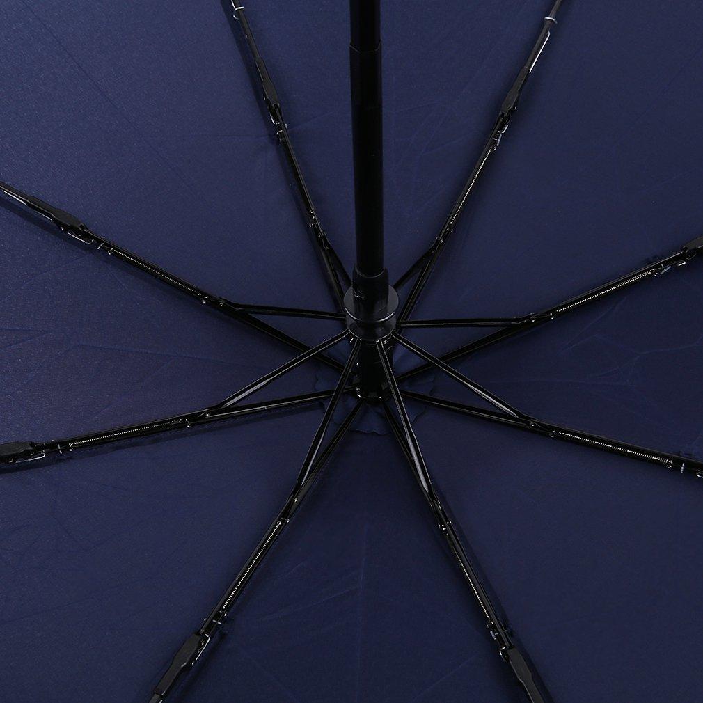 Maexus Fashionable Fully-Automatic Three Folding Business Solid Sunshade Umbrella