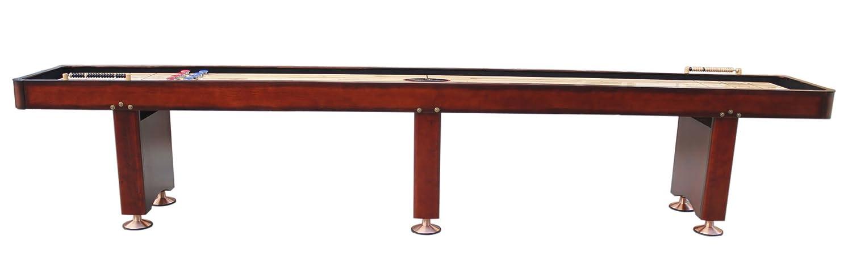 Playcraft Georgetown Shuffleboard Table Cherry Feet SHGECH - Playcraft georgetown shuffleboard table