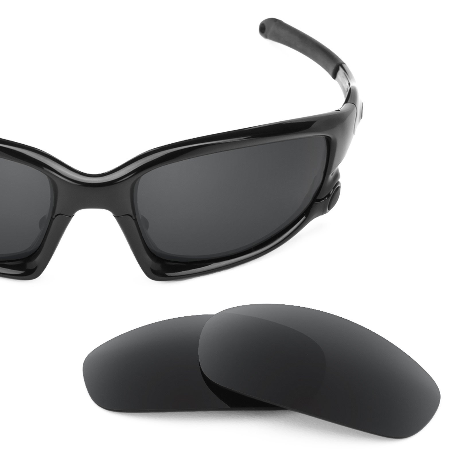 Revant Polarized Replacement Lenses for Oakley Split Jacket Stealth Black Asian Fit