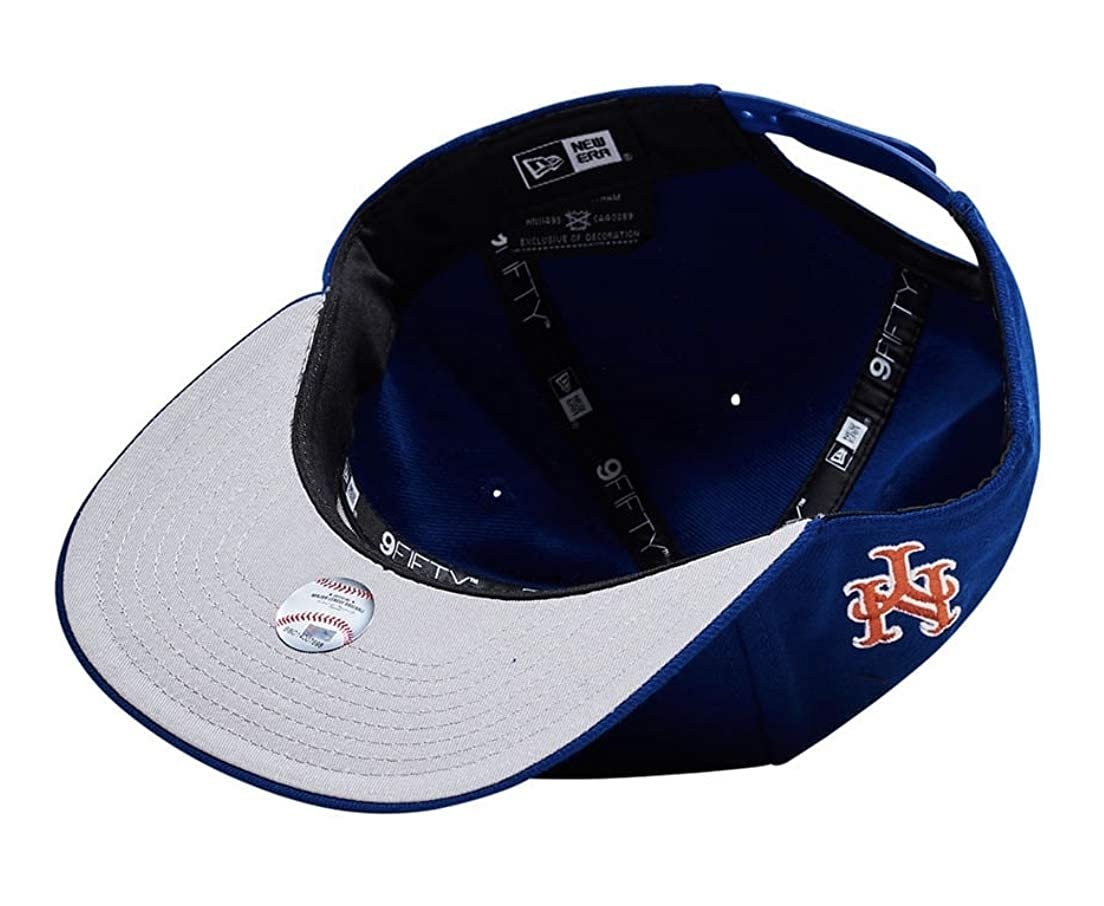 new style 291da b96f5 New Era New York Mets Split MLB 9Fifty Adjustable Snapback Hat Mens Blue at  Amazon Men s Clothing store
