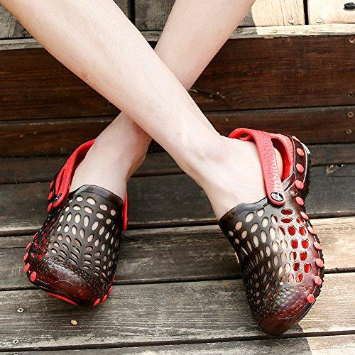 Lijeer Jelly Wasser Schuhe Männer Frauen Garten Schuhe Comfort Walking Pool Dusche Saltwalter Sandalen Hausschuhe rot