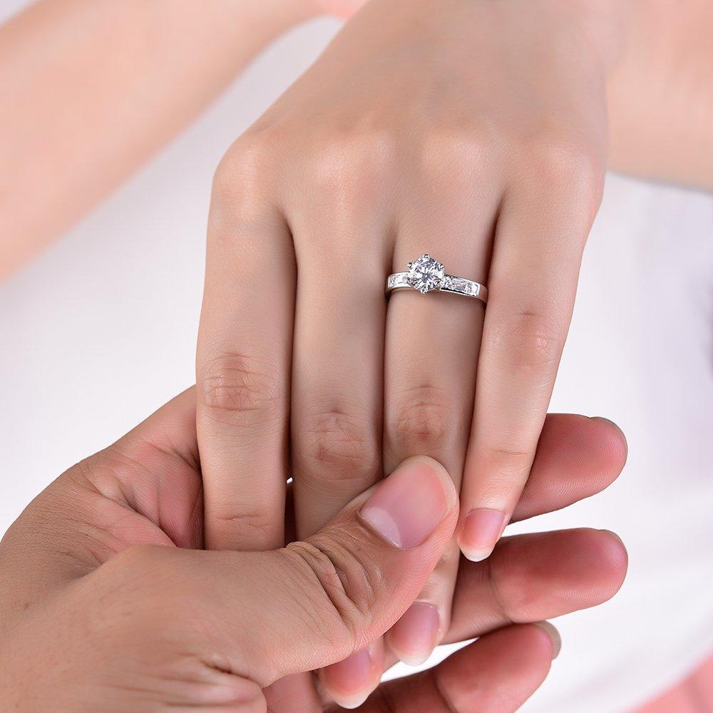 Sreema London Wedding Bridal Ring 925 Sterling Silver Cubic Zirconia ...