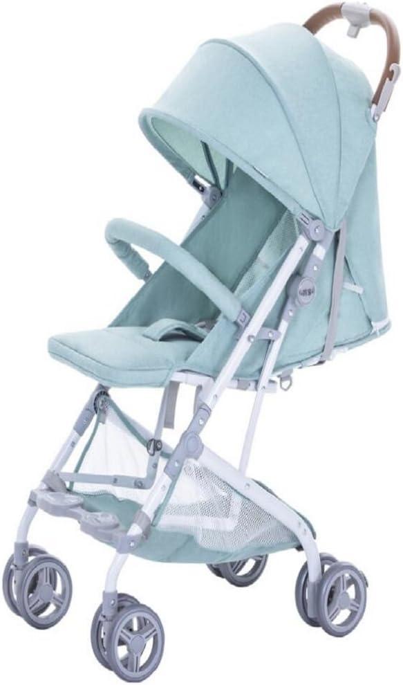 WYDM Cochecito de bebé, Plegable Ultraligero y portátil, Puede Sentarse y reclinarse, Adecuado para los cochecitos de bebé, Paraguas, carritos (Color : Green)