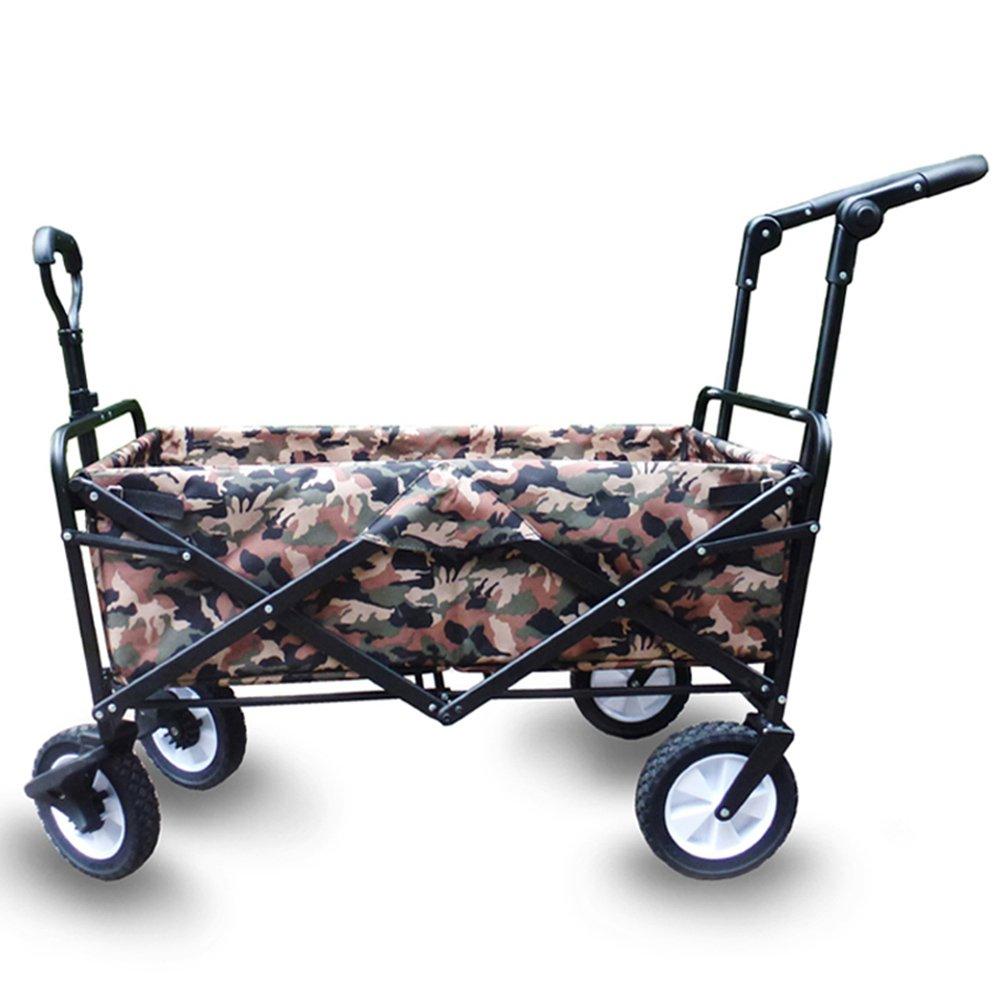 キャリーカートアウトドアワゴン折りたたみができる 分解できます ブレーキをかける 車皮 一輪車 鉄棒 オックスフォード迷彩生地 野外キャンプ 4色の色 (色 : 1#) B07FY5XXJH 1# 1#