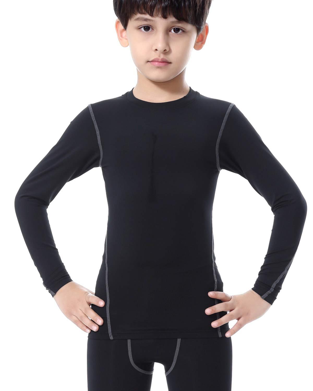 LNJLVI Boys/&Girls Compression Shirts Long Sleeve Tops T-Shirts