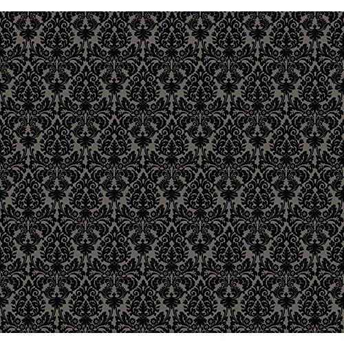 York Wallcoverings WP2448 Waverly Small Prints Essence Wallpaper, Dark Stone Grey/Glittering ()