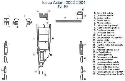 Outstanding Amazon Com Isuzu Axiom Full Dash Trim Kit Camo Automotive Wiring Digital Resources Remcakbiperorg