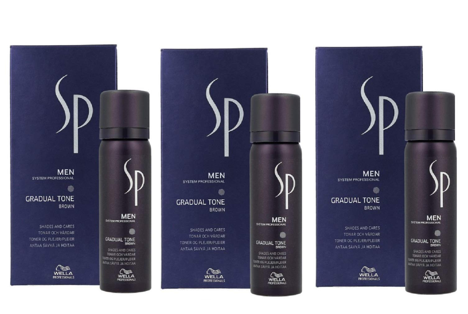 Wella SP Men's Gradual Tone Brown Set 3 x 60ml + 30 ml