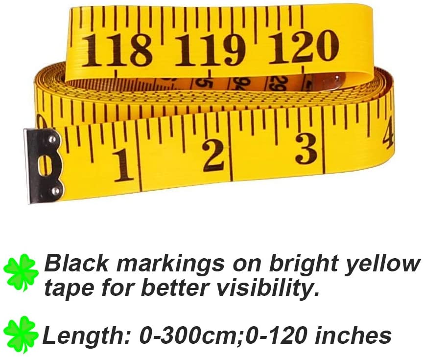 6 Count 2 Sizes Double Sided Soft Tape Measure 120 Inch 300cm and 79 Inch 200cm Flexible Body Scale Measuring Pocket Tailor Ruler for Sewing Cloth Dressmaker