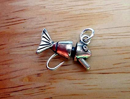 Amazon com: Sterling Silver 15x17mm Detailed Fish Fishing