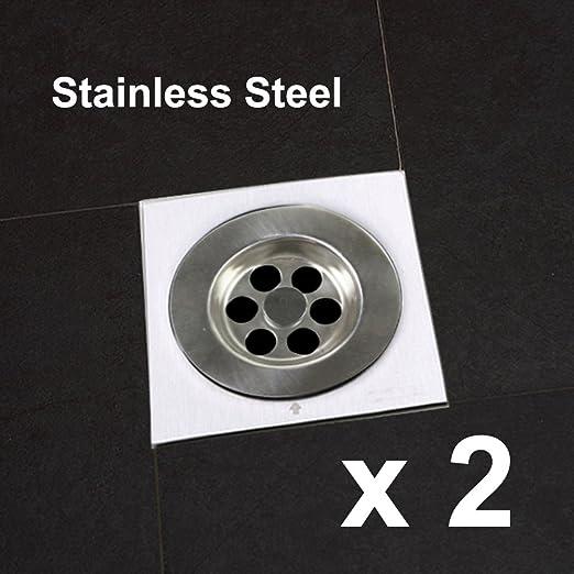2 piezas de acero inoxidable desagüe de piso colador de cocina ...