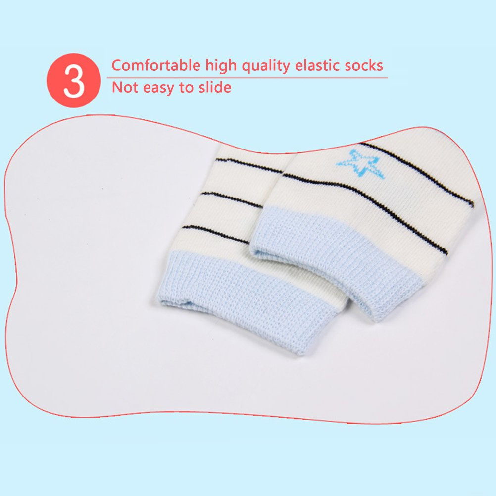 Zhhlinyuan Girls Boys Cotton Socks Pattern Printing Anti-Skid Childrens Socks