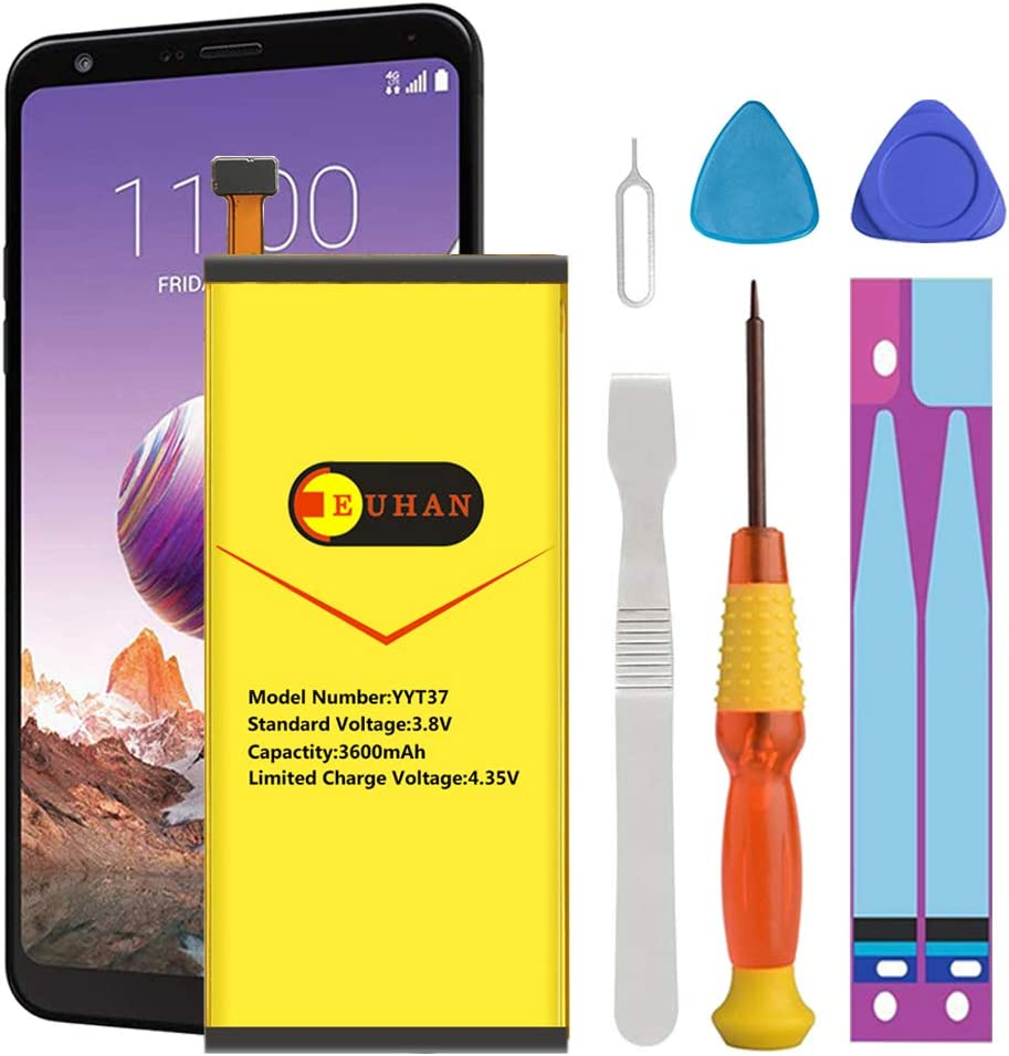 LG Stylo 4 Battery, Euhan 3600mAh Li-Polymer Battery Replacement for LG Stylo 4 / BL-T37 Q710 Q710AL Q710MS Q710TS Q710CS Q710AL Q710US with Repair Replacement Kit Tools [24 Month Warranty]