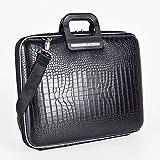 Cocco Bombata Siena Briefcase for 13 Inches - Black