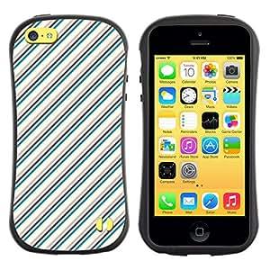 DesignCase Premium TPU / ABS Hybrid Back Case Cover Apple iPhone 5C ( diagonal line )