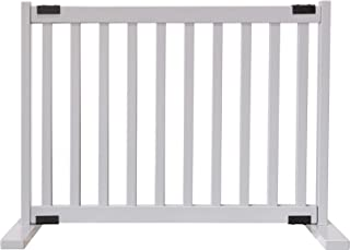 """product image for Dynamic Accents Amish Craftsman Kensington Series 20"""" Tall Free Standing Solid Wood Pet Gates are Handcrafted Small/Pumice Grey"""