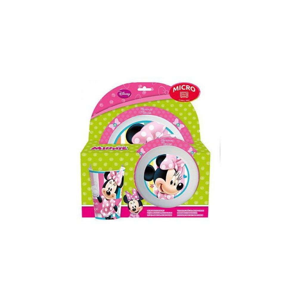 Set de plastico para microondas kids 3 piezas Minnie Dots Bows (1 ...