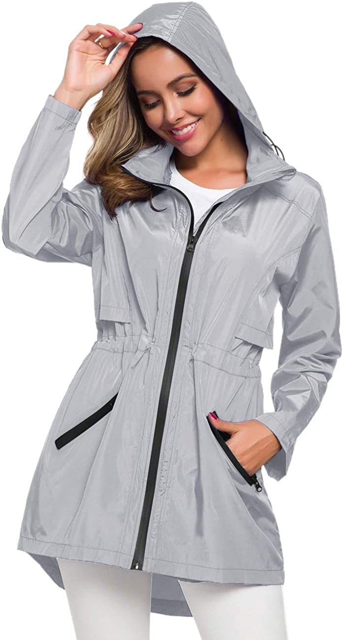 Avoogue Women's Long Rainwear with Hood