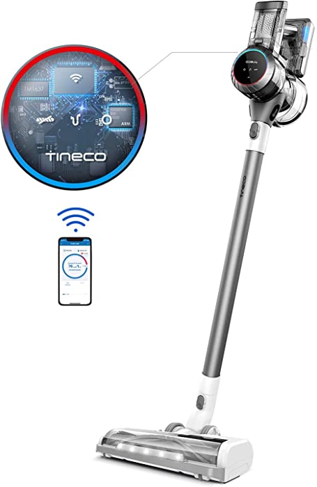 Tineco Smart Cordless Stick Vacuum, Pure ONE S11 Tango, 22KPA Strong Suction Ultra-Quiet Operation, Lightweight Handheld with LED Power Brush for Hard Floors Carpet Pet Hair