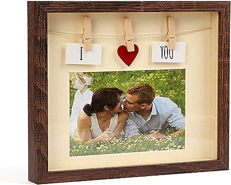 Love Decor Photo Display hugs /& kisses Anniversary gift Picture Frame Valentine/'s Day gift XOXO Wood Photo Block Wedding gift