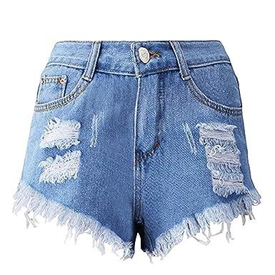 Amazon.com: Pantalones cortos para mujer con flecos y borlas ...
