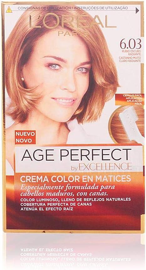 LOreal Excellence Age Perfect Coloración permanente, Tono: 6.03