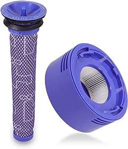 kwmobile 2X Filtro para aspiradora Dyson - Pre Filtro y Post Filtro HEPA compatibles con Aspirador V7 y V8 - Recambios Lavables para Escoba eléctrica: Amazon.es: Hogar