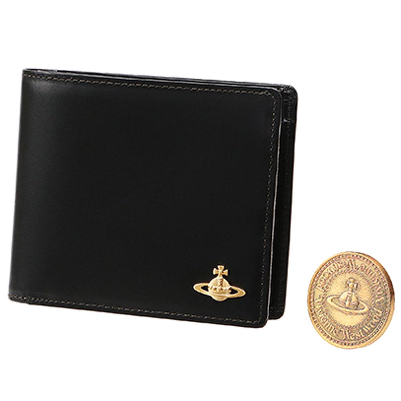 ヴィヴィアンウエストウッド 国内正規品 COIN レザー 二つ折り ウォレット 本革 財布 ヴィヴィアンウェストウッド Vivienne Westwood B01BHLQNY2ブラック