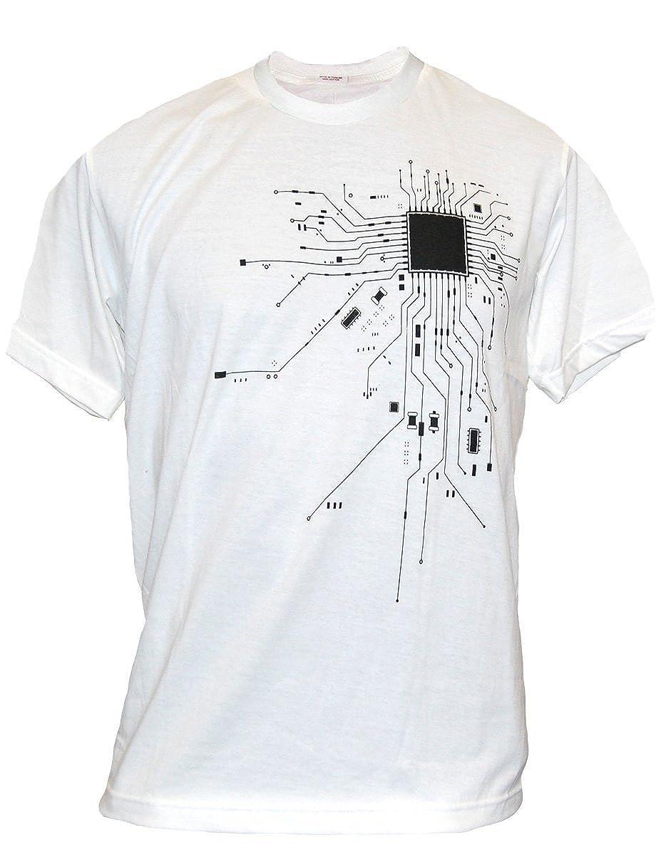 1c39430377069 Amazon.com  SODAtees COMPUTER Chip CPU CORE HEART Men s T-Shirt Geek NERD   Clothing