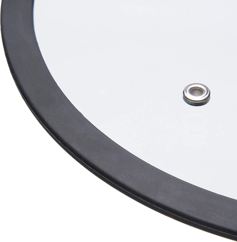 Alluflon Etnea Glasdeckel, Silikonrand, transparent, Durchmesser 24 cm