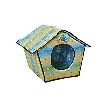 Aurantiaco Casa de Perro Plegable Tienda de campaña para Mascotas Animales Cama de Dormir Interior casa
