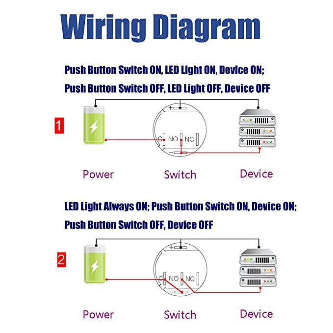 Wiring Diagram For Push Button Switch - ( Simple Electronic Circuits ) •
