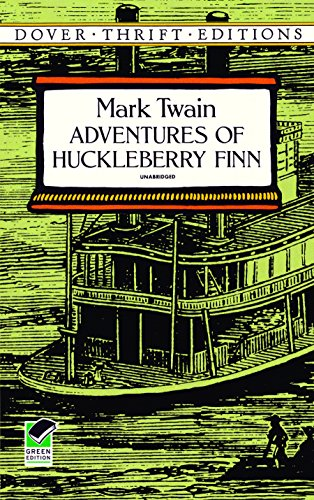 Adventures of Huckleberry Finn (Dover Thrift Editions) (Frankenstein Leather Bound)