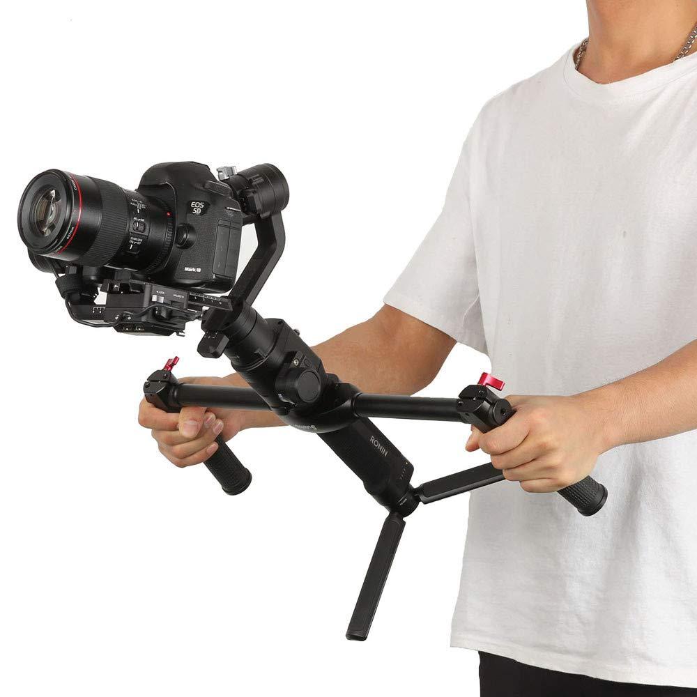 Lovewe Adjustable Dual Handle Grip, 1/4 Screw Connector Handheld Grip Kit for DJI Ronin-S Handheld Gimbal Stabilizer by Lovewe (Image #2)