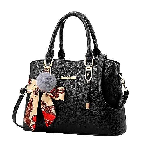 02a25e68d8d DOLDOA Women Fashion Design Faux Leather Shoulder Bag Tote Ladies ...