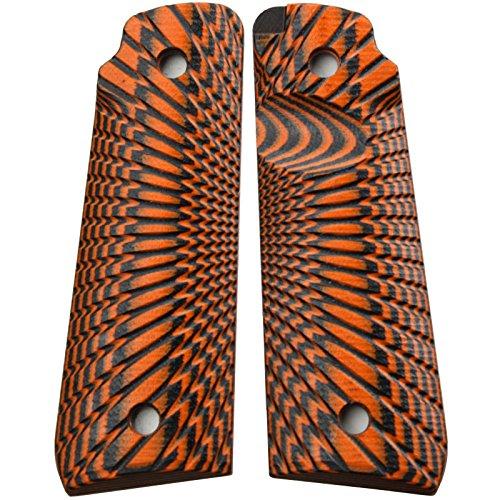 StonerCNC Ruger Mark IV 22/45 Lite Grips G10 Starburst Design Fits Ruger 22  45 Lite Generation 4 Rimfire Pistol NOT for GEN 3 (Orange Black)