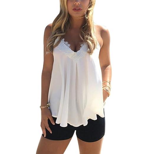126d364fa5d52 Amazon.com  KennsGations Sexy Women Summer Low-Cut Crop Top Vest ...