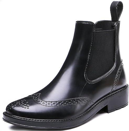 Chelsea Boots Womens Brogue Rain Boots