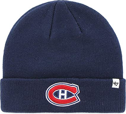 best sneakers 75367 62f96 47 Brand Montreal Canadiens NHL Raised Cuff Knit Beany Hat One Size Mütze  Forty Seven
