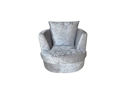 Wondrous Lpd Bliss Snug Swivel Chairs Large Or Small Silver Bralicious Painted Fabric Chair Ideas Braliciousco