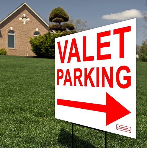 Blank Stand Rod (Large VALET PARKING Sign with Tall Stand - (1) 24